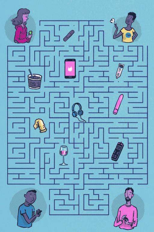 labirinto com itens sexuais