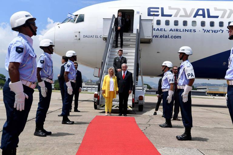Benjamin Netanyahu  chega ao Rio de Janeiro