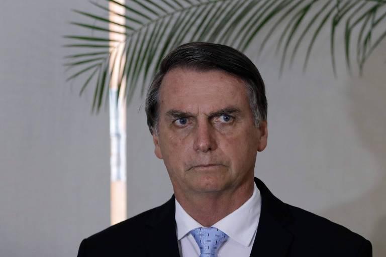 O presidente eleito, Jair Bolsonaro (PSL), durante encontro com o premiê de Israel, Binyamin Netanyahu, no Forte de Copacabana, no Rio de Janeiro