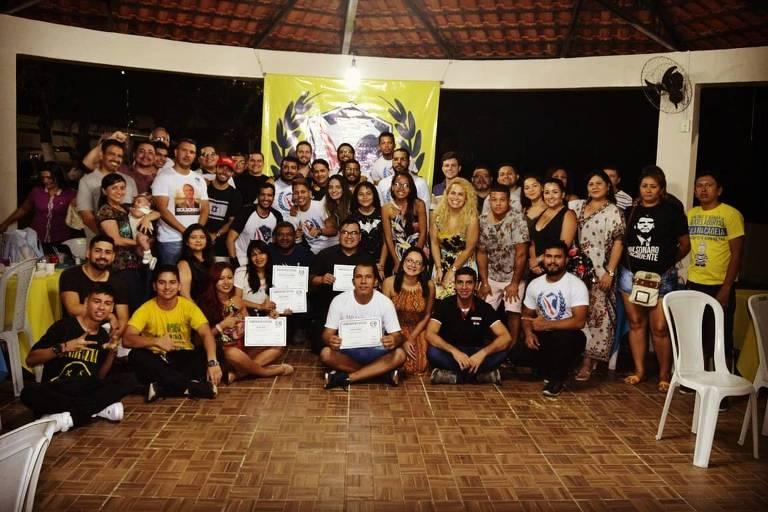 Reunião do movimento Direita Amazonas no dia 28 de dezembro. Grupo organiza caravana para ver posse de Jair Bolsonaro