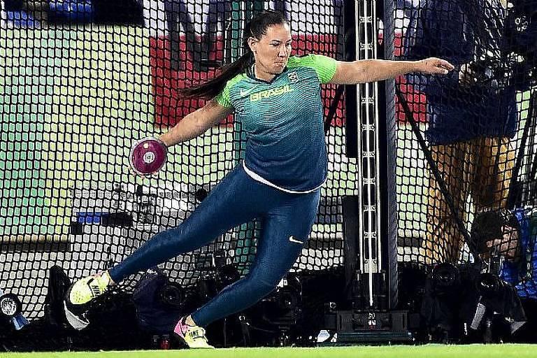 Fernanda Borges durante treinamento para o Mundial de Atletismo em Londres
