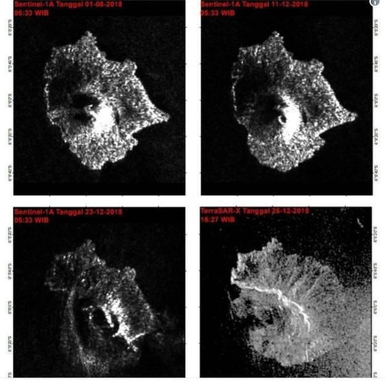 Vulcão perdeu mais de dois terços de sua altura e volume na semana passada