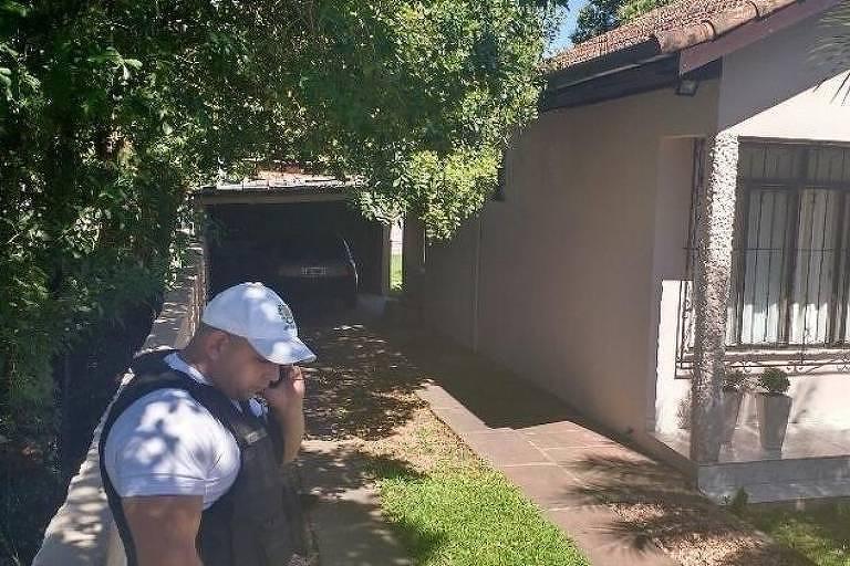 Casa onde Lúcia Bialoso Valença foi encontrada morta, em Estância Velha (RS)