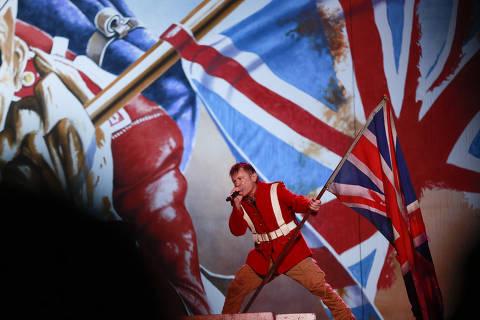 Sao Paulo, SP 26/03/2016  Brasil A banda Inglesa Iron Maiden durante Show no estadio Allianz Parque em Sao Paulo Robson Ventura/Folhapress . EMBARGADA PARA VEICULOS ONLINE  *** UOL E FOLHA .COM  E FOLHAPRESS CONSULTAR FOTOGRAFIA DO AGORA ***  FONES 32242169 3224 3342 ***