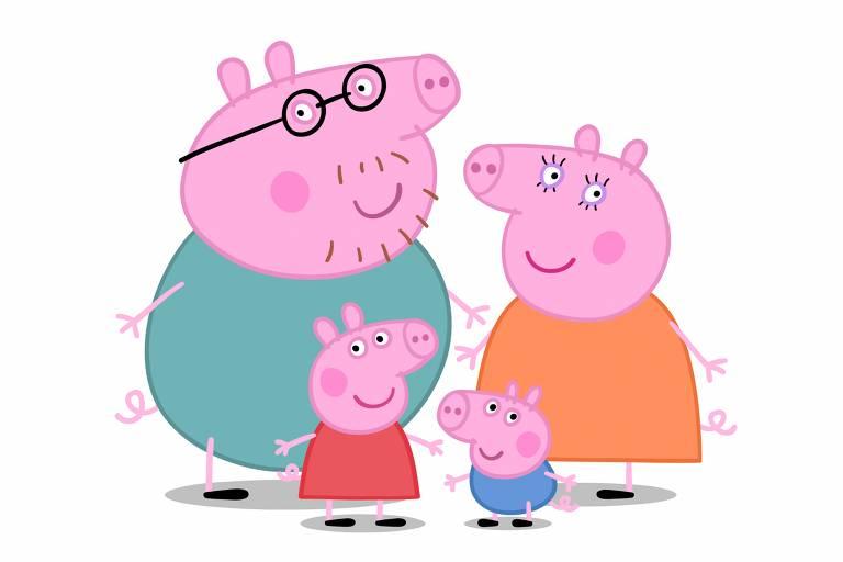 Peppa Pig com a família