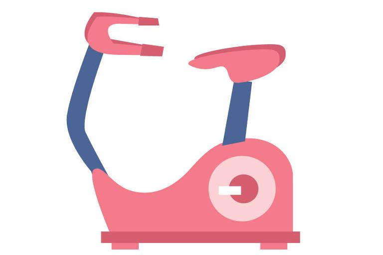 Ilustração de bicicleta ergométrica