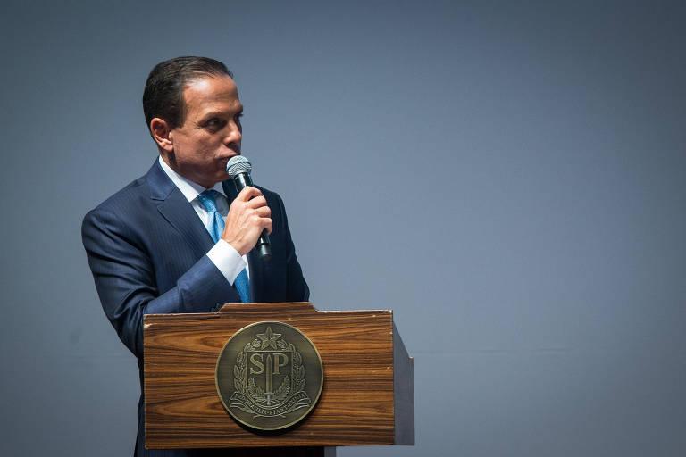 O governador de São Paulo, João Doria (PSDB), em sua cerimônia de posse