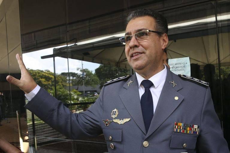 O deputado Capitão Augusto (PR-SP), sempre fardado, que se colocou como candidato à presidência da Câmara