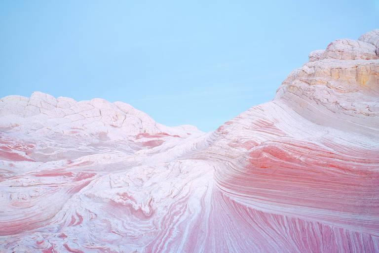Formação de pedra em cor rosa