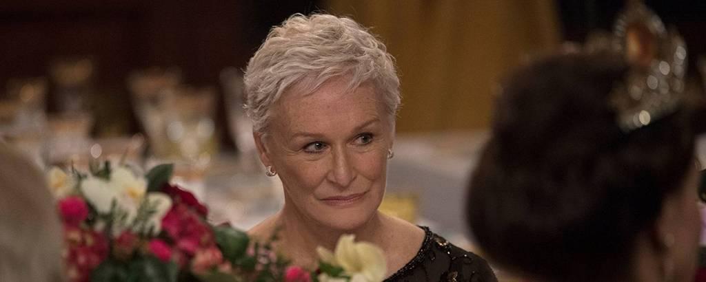 A atriz Glenn Close em 'A Esposa'