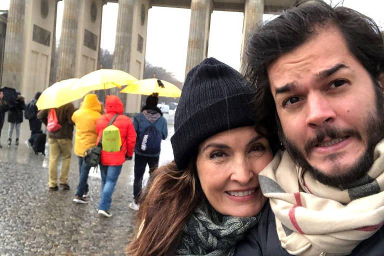 Fátima Bernardes e o namorado Túlio Gadêlha