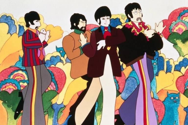 Os Beatles não falam durante o Submarino Amarelo e apenas aparecem, em uma cena de ação, no final do filme
