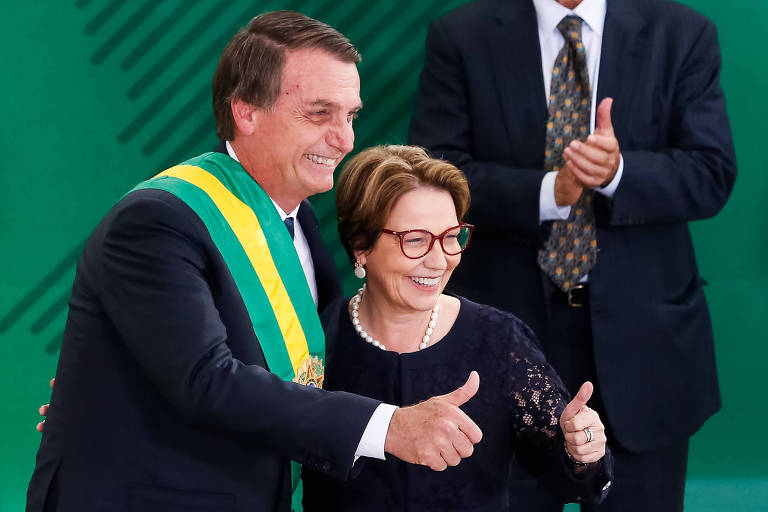 Ministra Tereza Cristina (Agricultura) durante a posse do presidente Jair Bolsonaro