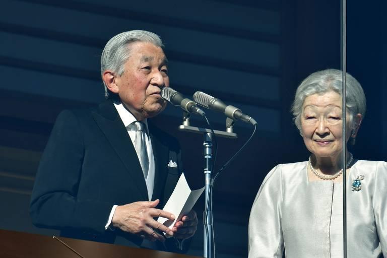 Imperador Akihito, que abdicou em prol do filho