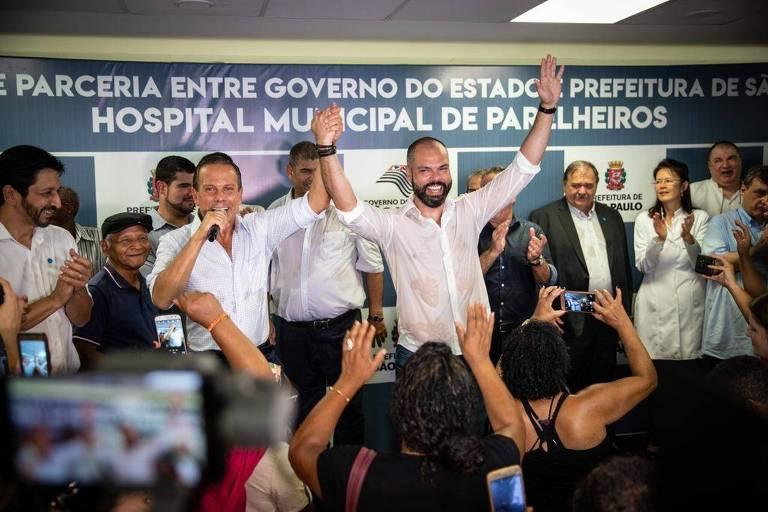 Doria e Covas fazem evento em tom de campanha e se dizem 'indissolúveis'