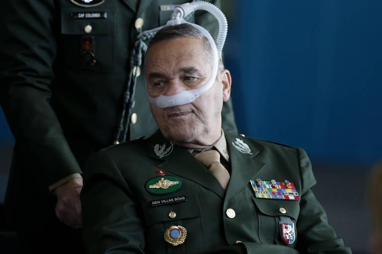 O atual comandante do Exército, general Eduardo Villas Bôas, durante a cerimônia de transmissão de cargo do novo ministro da Justiça, Sergio Moro