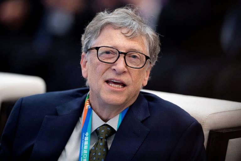Bill Gates, fundador da Microsoft, em evento de importação na China, em novembro; a TerraPower contava com o projeto piloto na China para validar a tecnologia em que trabalha há uma década