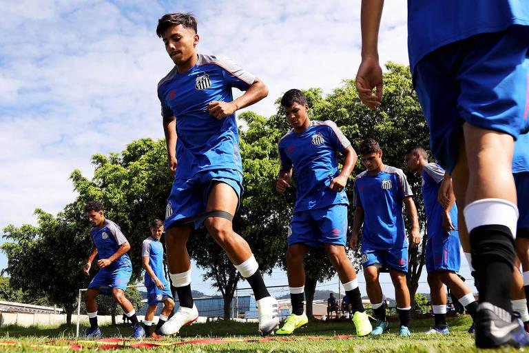 Time do Santos sub-20 se prepara para a disputa da Copa São Paulo de 2019