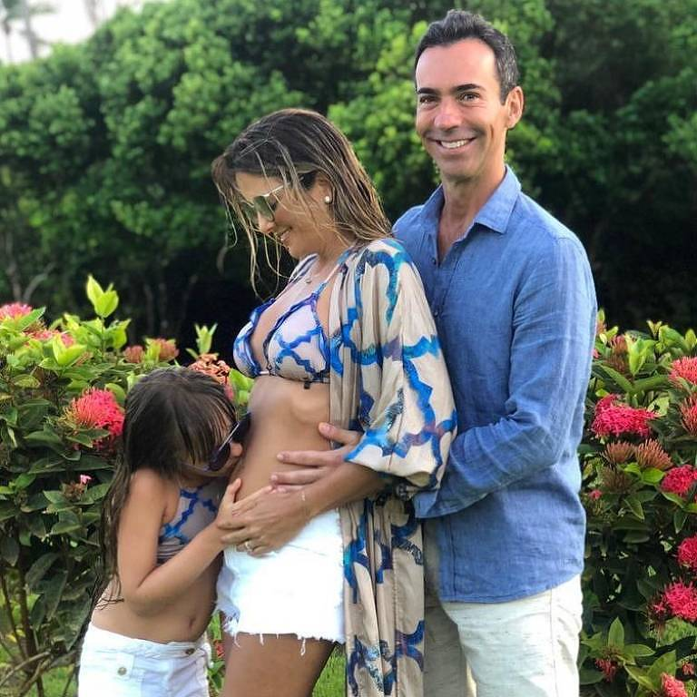 Ticiane Pinheiro e Cesar Tralli anunciam gravidez