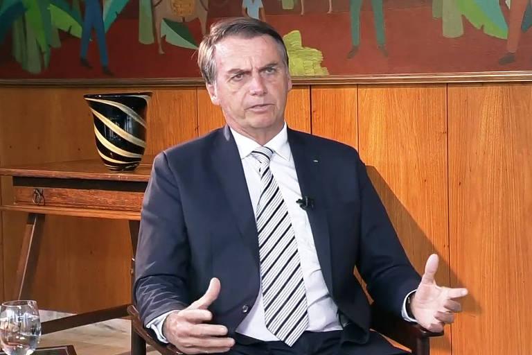 Bolsonaro concede ao SBT sua primeira entrevista após assumir o Palácio do Planalto
