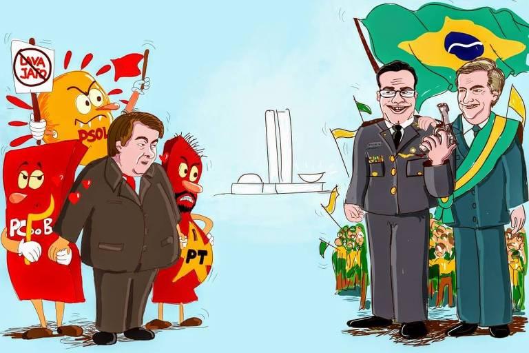 Deputado Capitão Augusto (PR-SP) compartilha material contra Rodrigo Maia, seu adversário na disputa pela presidência da Câmara