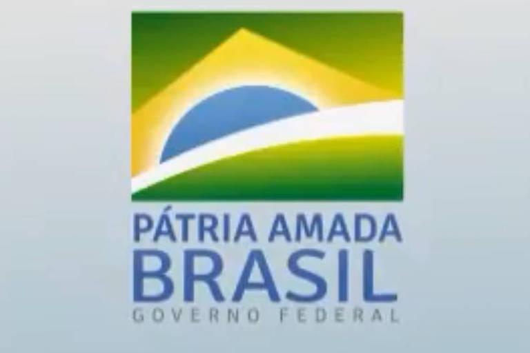"""O presidente Jair Bolsonaro divulgou nesta sexta (4), em um post no Twitter, a novo marca do governo federal, com o lema """"Pátria amada, Brasil"""""""
