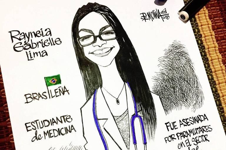 Cartunista desenha assassinados por repressão na Nicarágua
