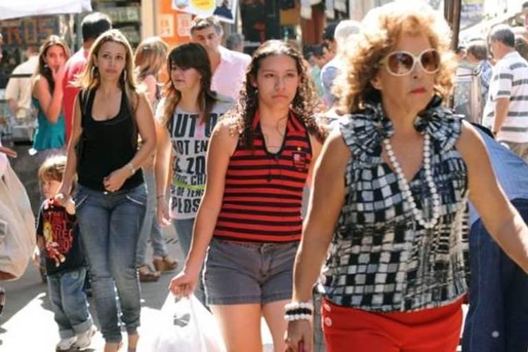 Mulheres em rua