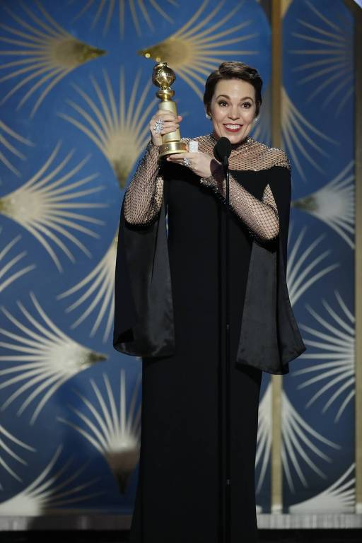 Olivia Colman no Golden Globe