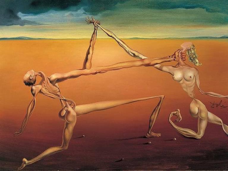 """""""A Dança"""" (1957), quadro de Salvador Dalí"""