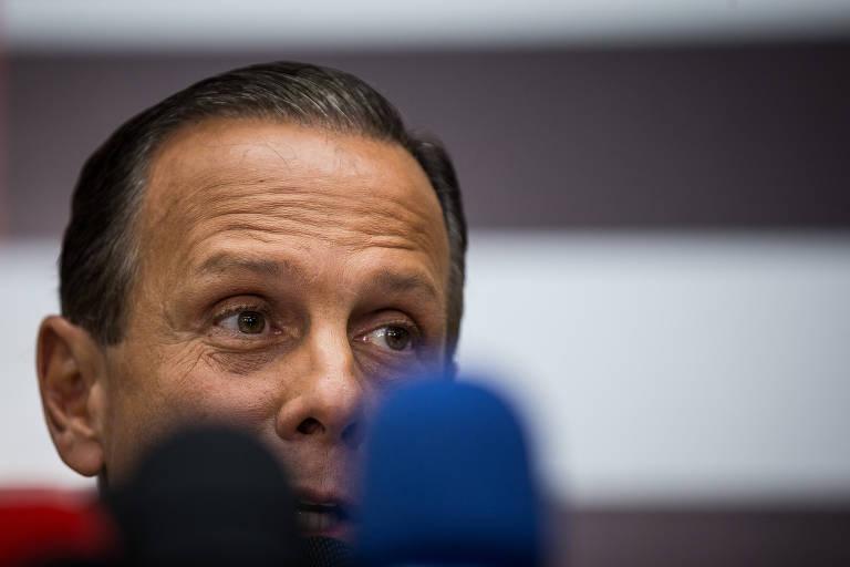 Doria fala com a imprensa no Palácio do Governo de São Paulo