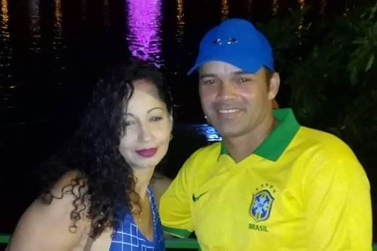 O casal Jaqueline Amorim de Souza, 38, e Marcelo Francisco Maciel, 37