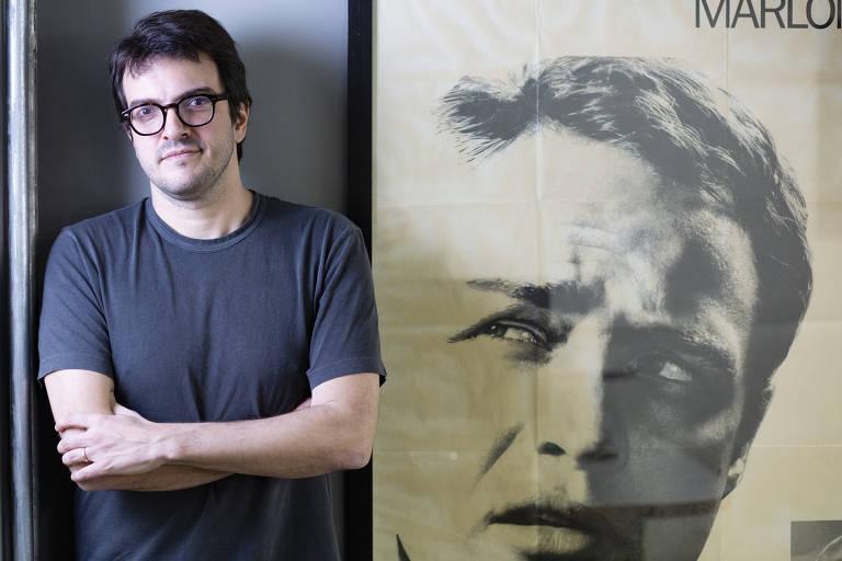 O produtor Rodrigo Teixeira em seu escritório, em São Paulo