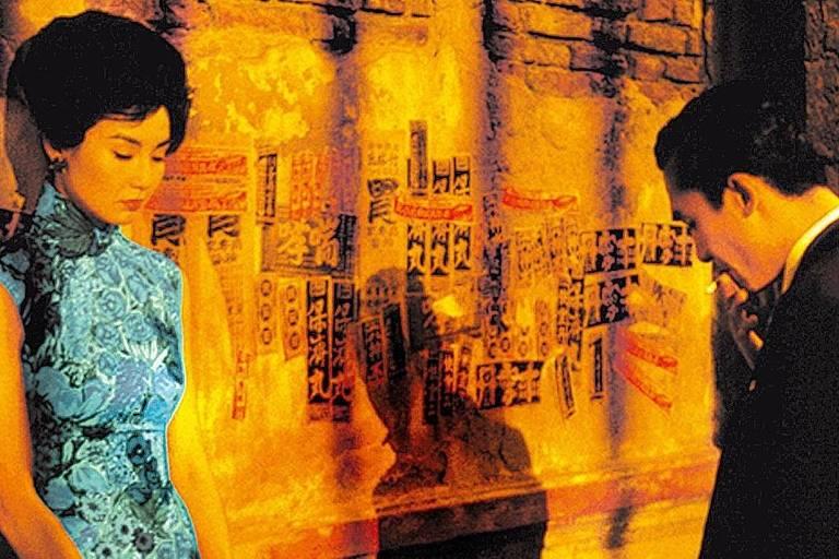 """Os atores Maggie Cheung e Tony Leung em cena do filme """"Amor à Flor da Pele"""", de Wong Kar-wai."""