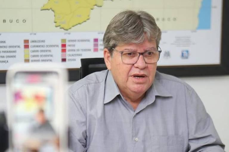 O governador da Paraíba, João Azevêdo
