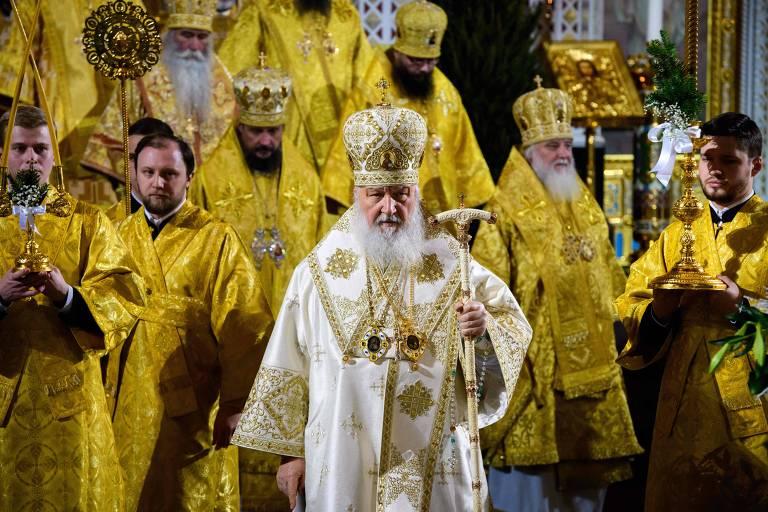 O patriarca da igreja Ortodoxa russa, Cirilo