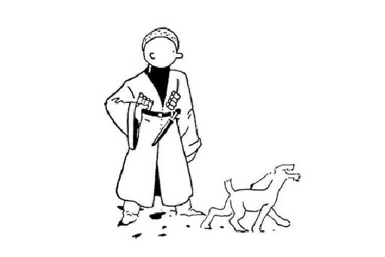 Primeira aparição de Tintim, em 1929