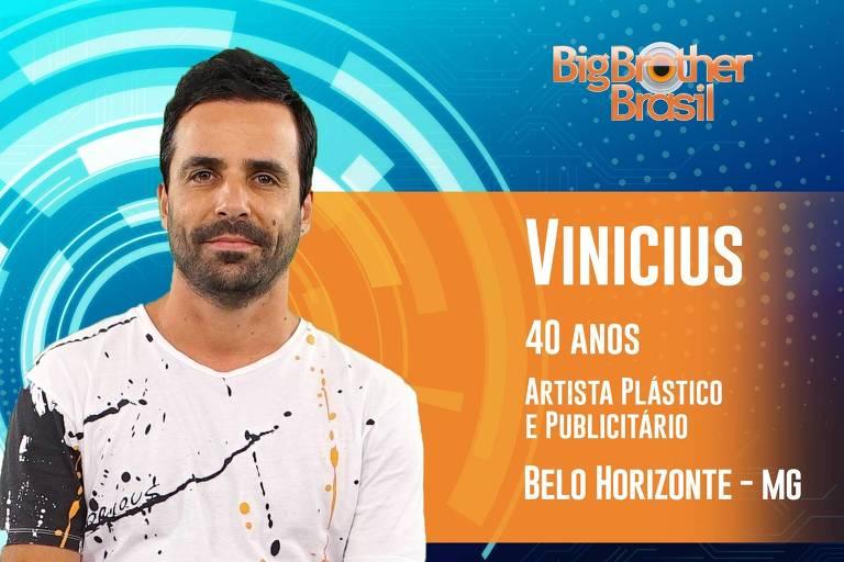 O mineiro Vinicius tem 40 anos e é artista plástico