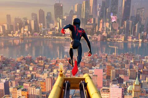 Miles Morales (voz de Shameik Moore) em 'Homem-Aranha: No Aranhaverso'