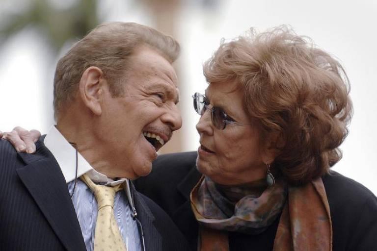 Jerry Stiller e Anne Meara, que morreu no fim de semana, aos 85 anos. 09/02/2007