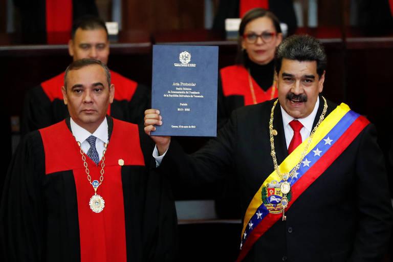 Maduro toma posse para segundo mandato