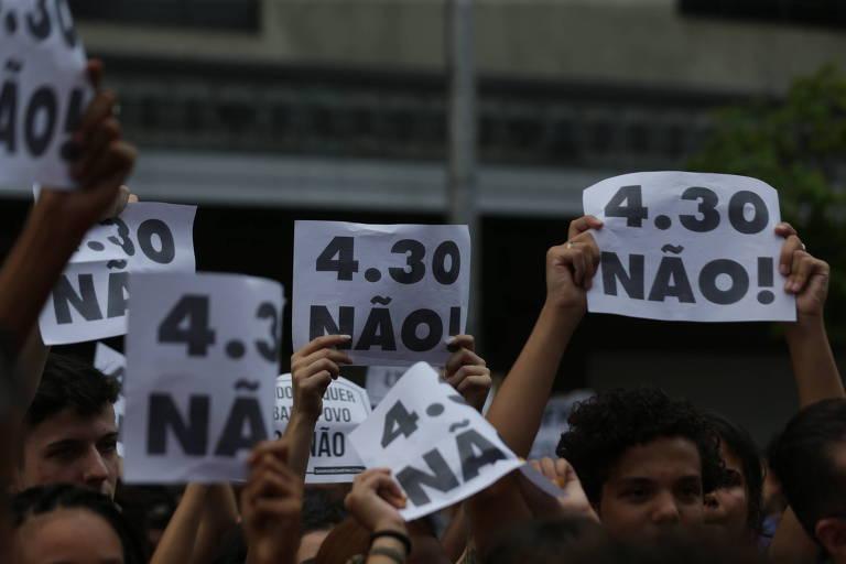 Protesto contra aumento da passagem - 2019