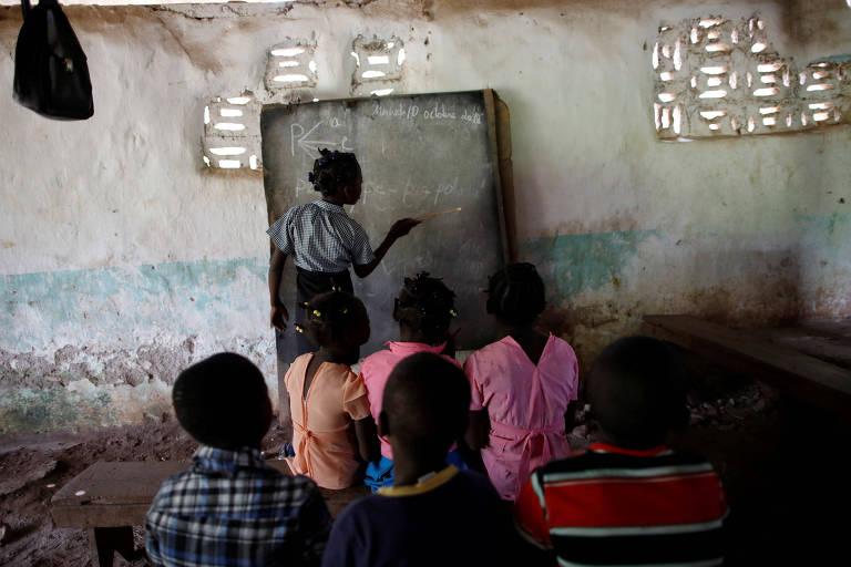 Vila fantasma no Haiti