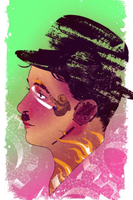 Ilustração de Gustavo Pergoli para a capa da Ilustríssima sobre como novas plataformas e desinteresse comercial ameaçam preservação de filmes antigos.