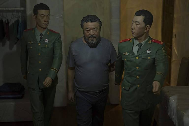 Cena do documentário dinamarquês 'Ai Wei Wei e o Caso Fake', sobre o entrave entre o artista e o governo chinês