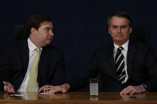 Rodrigo Maia e Jair Bolsonaro