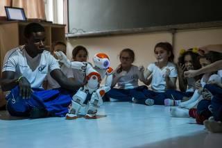 Aula de educação infantil no colégio São Vicente de Paula