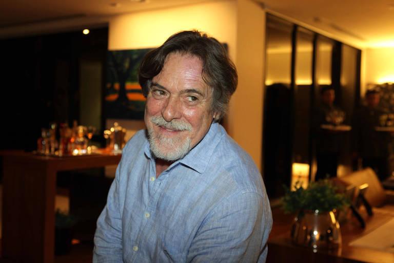 O ator José de Abreu durante jantar realizado em São Paulo
