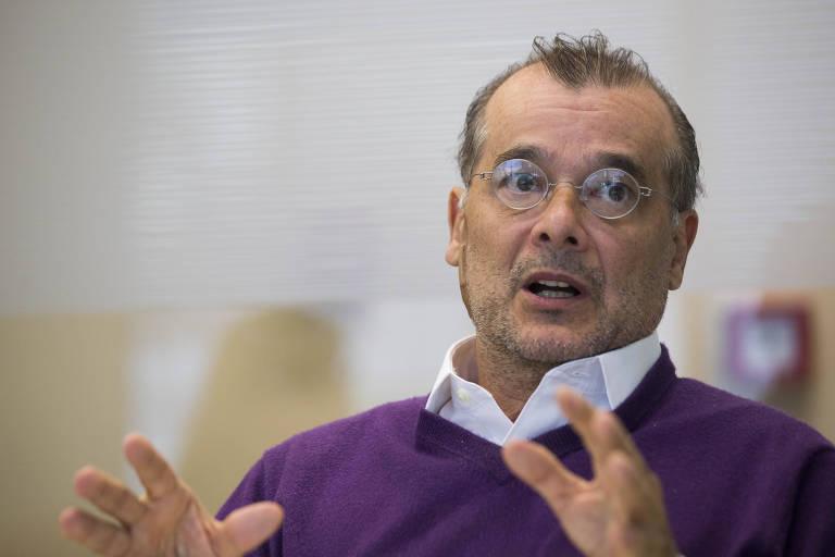 O economista Gustavo Franco durante entrevista em São Paulo