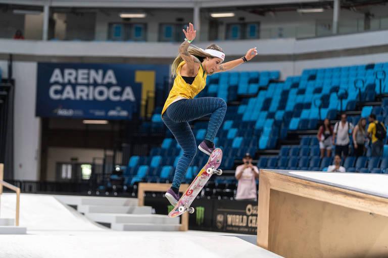 Leticia Bufoni na final do Mundial de street, na Arena Carioca 1